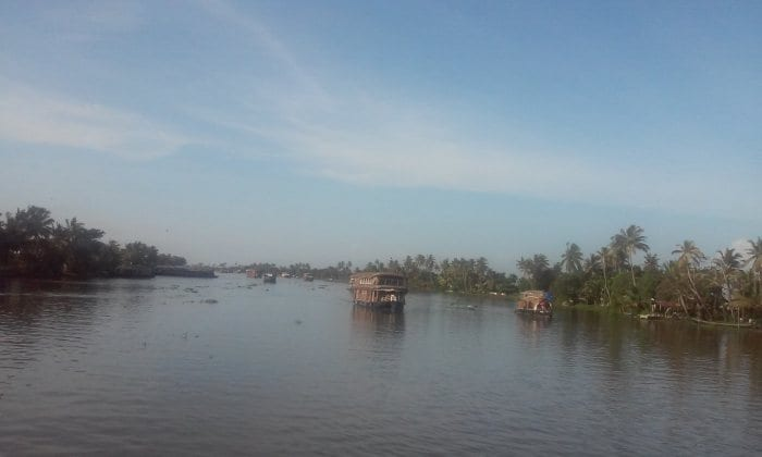 Taking a bout out on Kerala Backwaters