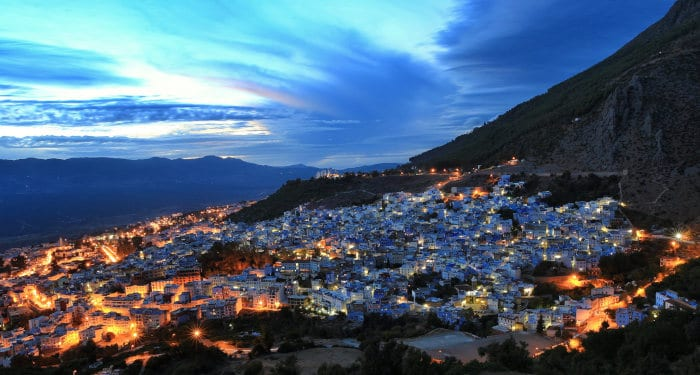 backpackers in Chefchaouen and Rif mountains
