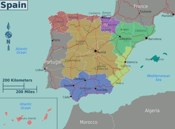 Spain backpacking budget