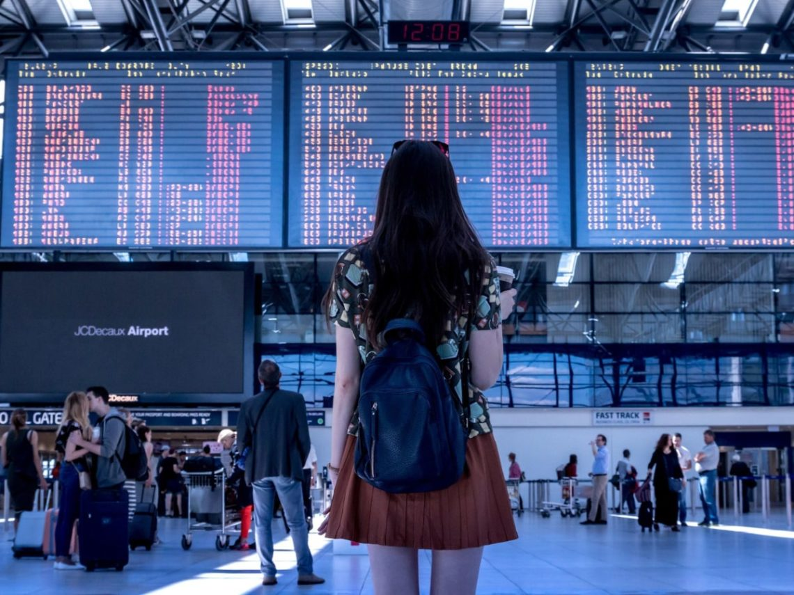 girl in an airport