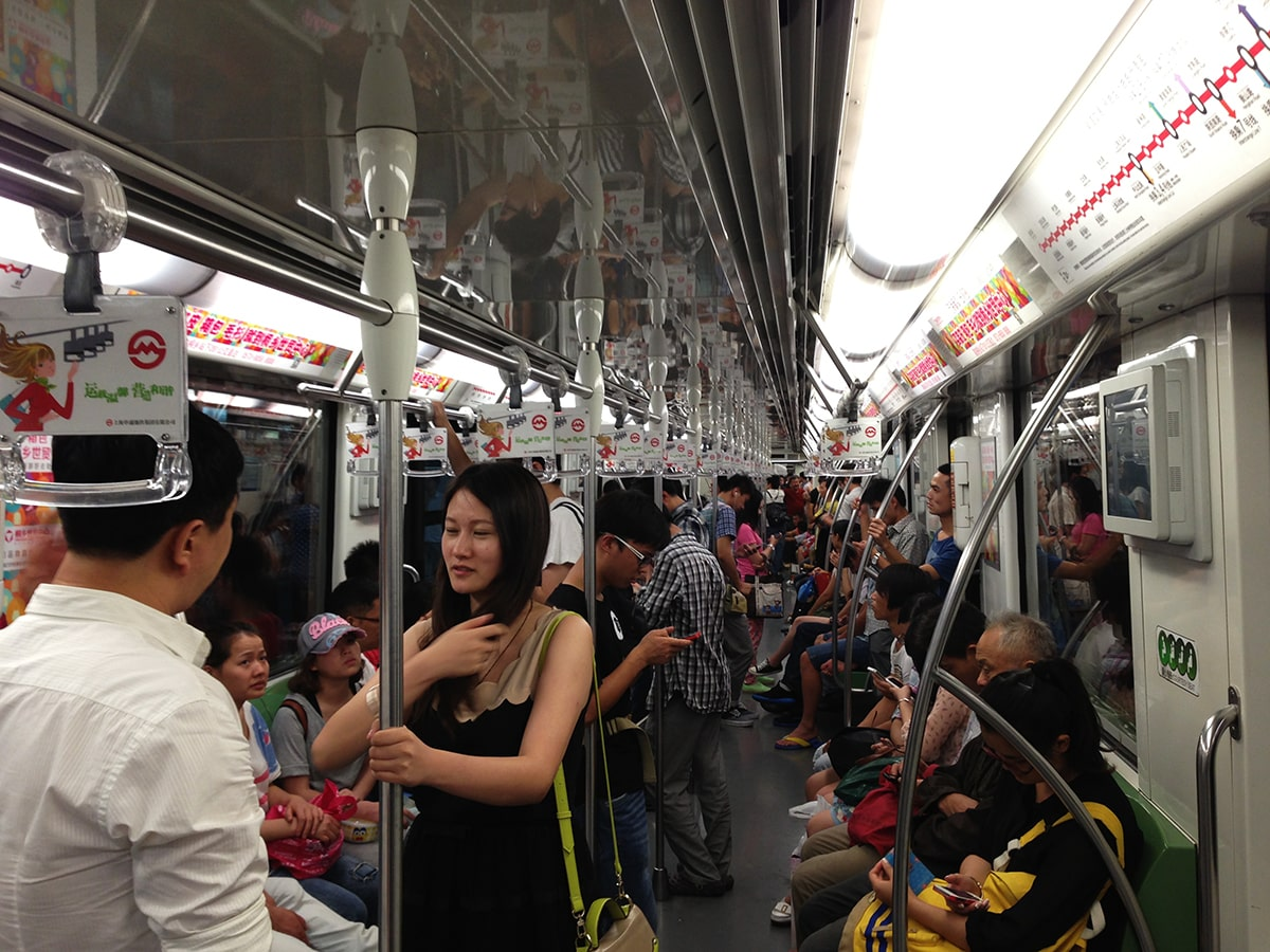 largest subway system in the world - Shanghai
